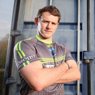 Ready for battle: Declan McCusker is hoping his team can secure a win against Antrim tomorrow
