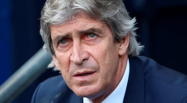 Positive mood: Manuel Pellegrini is hoping for all three points today