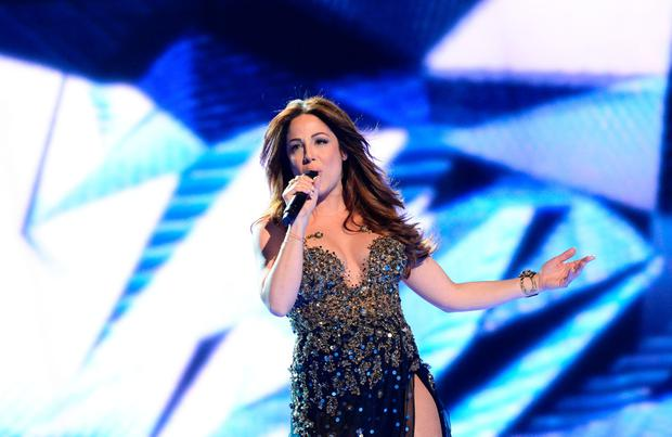 Ira Losco representing Malta performs the song ÒWalk On WaterÒ during the dress rehearsal for the Eurovision Song Contest 2016 Grand Final in Stockholm, Sweden, on May 13, 2016. / AFP PHOTO / JONATHAN NACKSTRANDJONATHAN NACKSTRAND/AFP/Getty Images