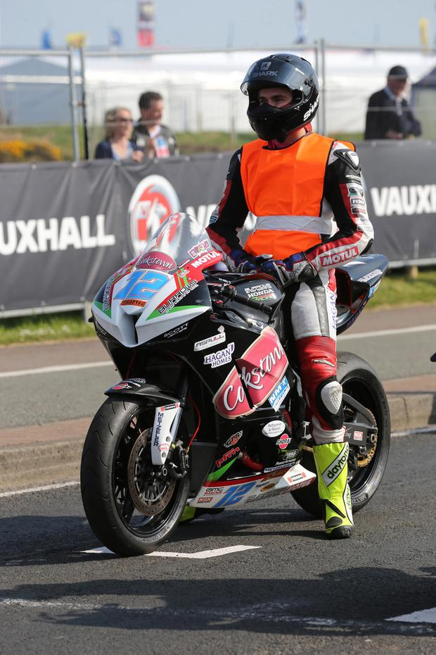 Malachi Mitchell-Thomas was killedin a crash during the supertwins race at the North West 200.