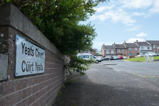 Yeats Court in the Ballymagroarty area of Derry where a man was shot in both ankles in the early hours of Sunday morning. Picture Martin McKeown