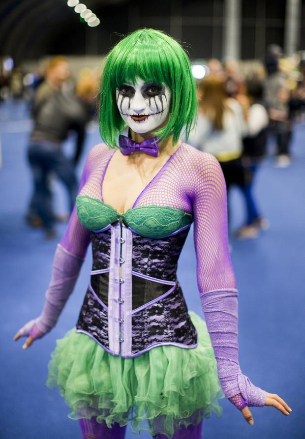 Bronte Donovan (24) orginally from Australian and now living in Banbridge is dressed as the Joker as part of Brontology cosplay. Liam McBurney/RAZORPIX