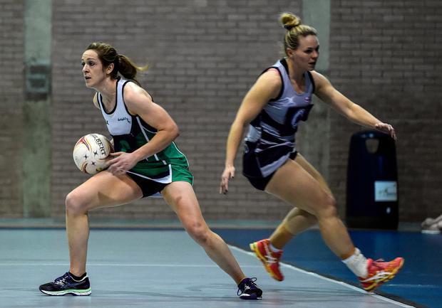 Caroline O'Hanlon in action against Scotland