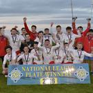 Subway NIBFA finals at Mid Ulster sports arena in Cookstown. Portadown Under 17 plate final winners.