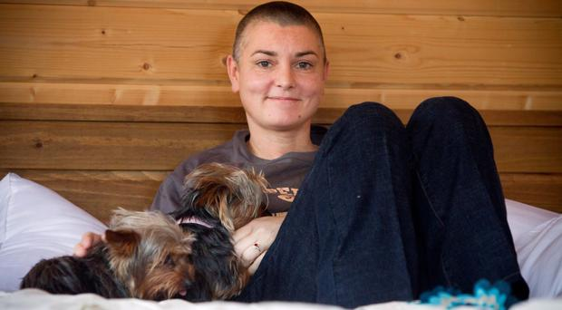 Singer Sinead O'Connor pictured at her home in Bray, Co Wicklow