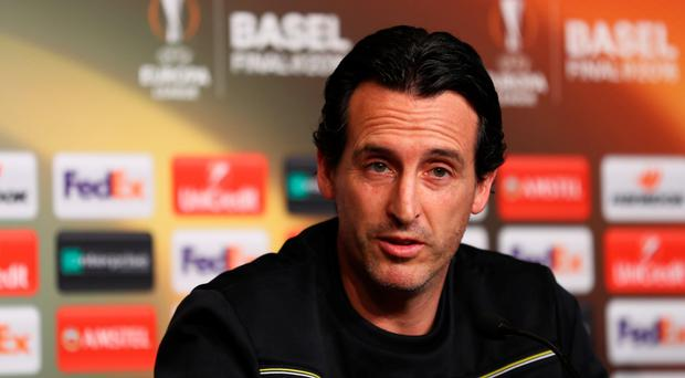 Fired up: Unai Emery wants a third Europa League crown in succession