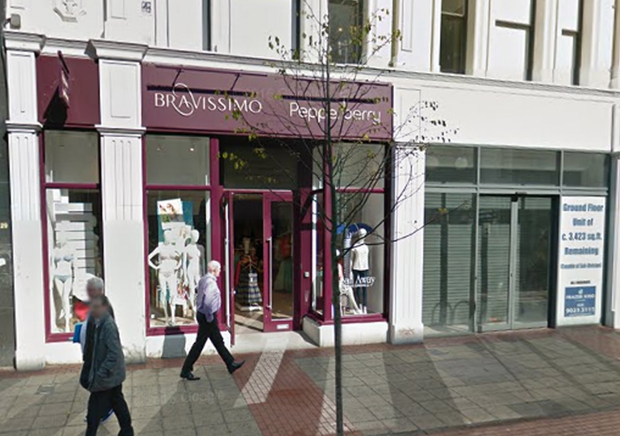 Bravissimo on Royal Avenue, and the unit next door which will soon accommodate the latest outlet of Greggs