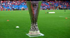 A view of the Europa League Trophy