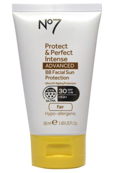 No7's Protect & Perfect Intense Advanced BB Facial Sun Protection SPF30, 50ml, £14.95
