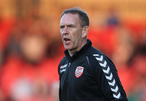 Moving forward: Kenny Shiels is determined to get a win tonight