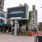 The Big Screen outside Newry Cathedral