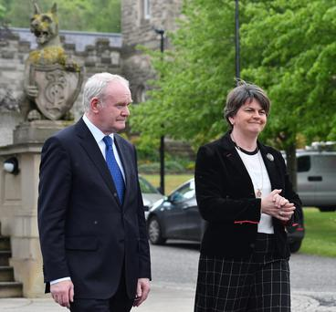 First Minister Arlene Foster and and Deputy First Minister Martin McGuinness