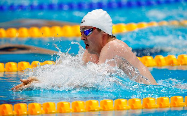 Out in front: Ross Murdoch on his way to gold in the 200m breastroke final