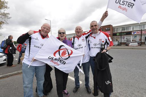 Stephen Hamilton Northern Ireland -20th May 2016 Photograph: Stephen Hamilton Ulster rugby fans pictured at Podium for Sport in Belfast ahead of tonights Guinness PRO12 semi final match against Leinster .