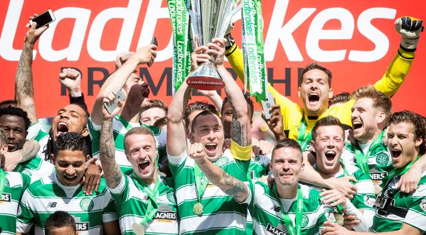 Celtic claimed a fifth consecutive Scottish Premiership this season