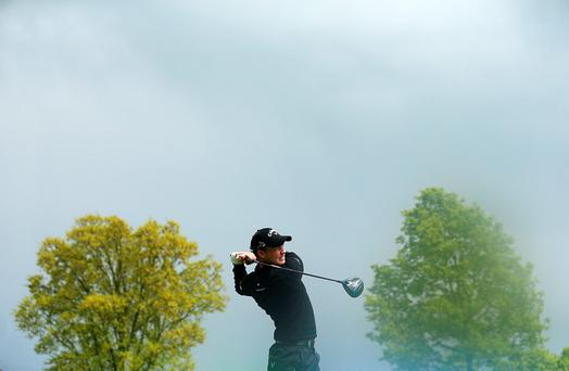 Danny Willett of England tees off on the 7th hole during the third round of the Dubai Duty Free Irish Open Hosted by the Rory Foundation at The K Club on May 21, 2016 in Straffan, Ireland. (Photo by Andrew Redington/Getty Images)
