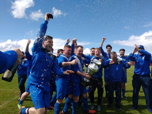 Immaculata soak up the celebrations on the final day of the Premier Division season