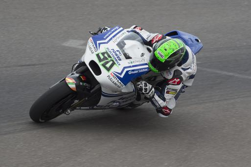 Moving on up: Eugene Laverty was pleased to pick up some points at the weekend