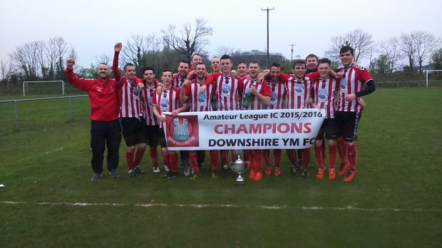 Newly-crowned Division 1C champions, Downshire YM