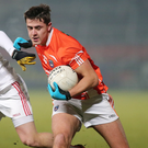 All in hand: Stefan Campbell will be Armagh's main source of attack