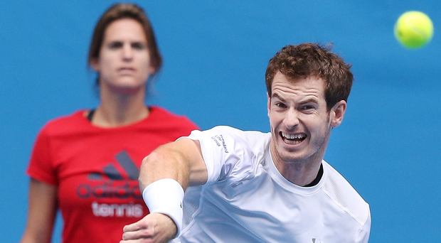 In the balance: Andy Murray has admitted to feeling embarrassed when watching footage of his on-court outbursts