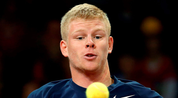 Kyle Edmund was victorious against Nikoloz Basilashvili