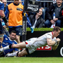 Familiar sight: Craig Gilroy nets his double in the semi-final defeat to Leinster, taking him top of the PRO12 scoring charts for the season