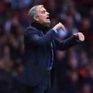 Ready and waiting: Jose Mourinho is set to take over from Louis van Gaal at United