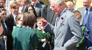 Members of the public pictured with Prince Charles. His Royal Highness The Prince of Wales visited the Portico Presbyterian Church in Portaferry CoDown Northern Ireland. Picture By: Arthur Allison/Pacemaker.