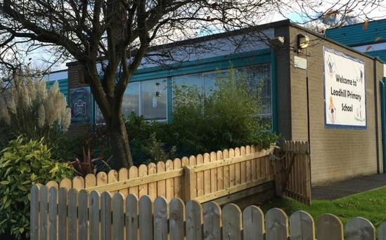 Leadhill Primary School, in Castlereagh, was among a number of Northern Ireland schools evacuated due to 'malicious communications'