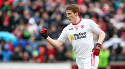 Licence to thrill: Tyrone's system lets Peter Harte get forward when the ball is won