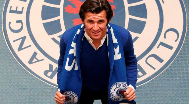 New boy: Joey Barton at Murray Park after signing a two-year deal