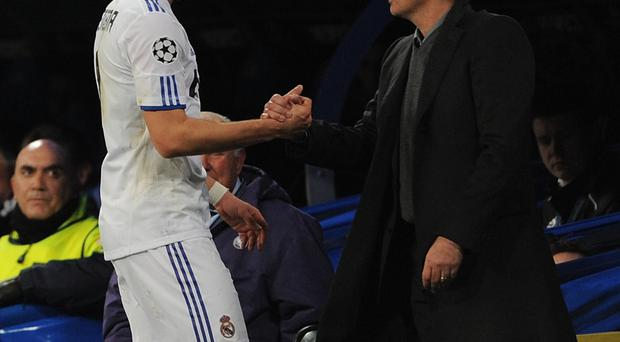 Good relationship: Karim Benzema has said in the past that Jose Mourinho pushed him to become a better player when the Portuguese was in charge of Real Madrid