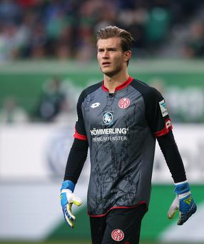 Deal me in: Loris Karius has joined Liverpool from Mainz for £4.7m