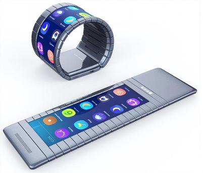 The Moxi phone will be able to roll up into a bracelet Moxi