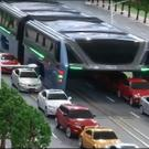 China unveils 'straddling bus' design to beat traffic jams