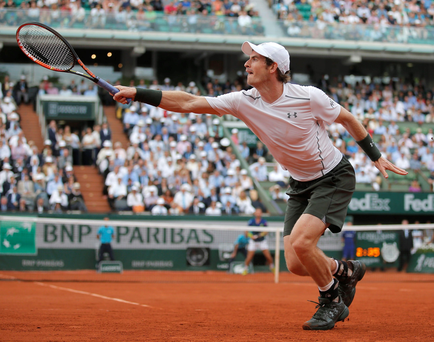 Tense battles: Andy Murray has been victorious in two five-set matches to reach the third round at the French Open in Paris