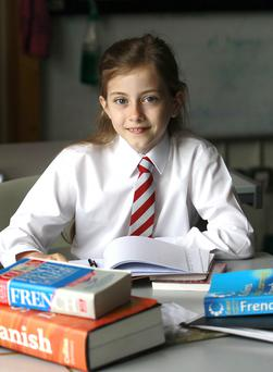 Maya Davidson, a pupil at Howard Primary School in Dungannon