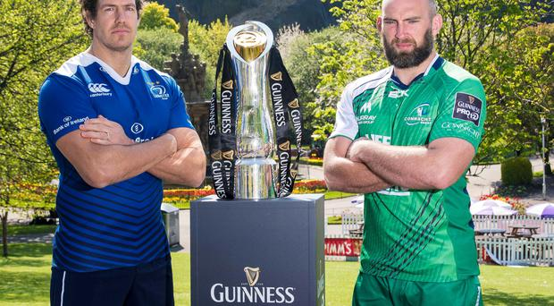 Cup showdown: Leinster's Mike McCarthy and Connacht's John Muldoon will square up in this evening's Pro12 final at Murrayfield