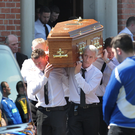 The funeral of Gerard Quinn 24 who was murdered in Londonderry last weekend, taking place at St Mary's Church, Ardmore on the outskirts of Derry city on Sunday. Picture by Margaret McLaughlin ©