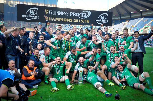 Champions: Connacht celebrate their PRO12 final victory at Murrayfield on Saturday