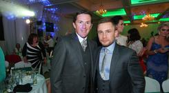 Sir AP McCoy and Carl Frampton at the Sunday Life Spirit of Northern Ireland Awards sponsored by Specsavers at the Culloden Estate & Spa resort in Holywood. Photo by Kelvin Boyes / Press Eye