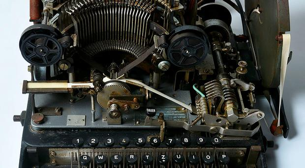 A handout photograph released by the National Museum of Computing on May 29, 2016 shows the teleprinter part of a Lorenz cipher machine that was purchased by the National Museum of Computing from eBay for 10 GBP (14.6 USD, 13.2 euro). AFP/Getty Images