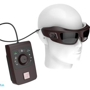 Handout photo issued by Pixium Vision of a new bionic vision system, the Iris II, which is to be tested on up to 10 British patients who have lost their sight. PA