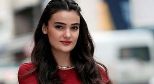 Feb. 26, 2015 file photo, former Miss Turkey Merve Buyuksarac poses for a photo as she speaks to The Associated Press in Istanbul, Turkey. (AP Photo/Emrah Gurel, File)