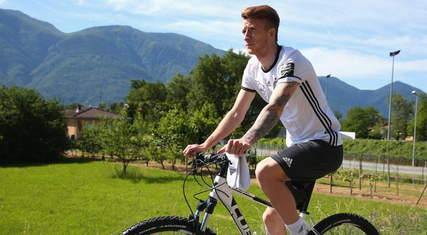 Off track: Marco Reus has been left out of Germany's Euro 2016 squad after losing his race to fully recover from injury
