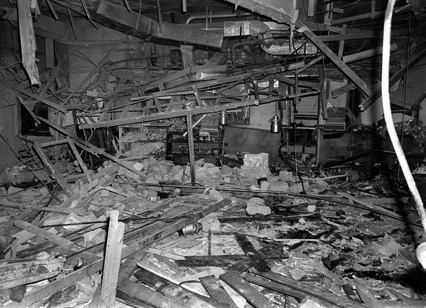 File photo dated 22/11/74 of the wreckage left at the Mulberry Bush pub in Birmingham after a bomb exploded, as a coroner is set to rule on whether to open new inquests for the 21 victims of the Birmingham pub bombings after years of campaigning by relatives. PRESS ASSOCIATION Photo. Issue date: Wednesday June 1, 2016. Louise Hunt, the senior coroner for Birmingham and Solihull, will give her ruling in connection with the twin 1974 blasts on Wednesday, after already holding several review hearings. See PA story INQUEST Birmingham. Photo credit should read: PA Wire