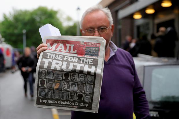 Brian Davis, who's younger sister Jane was killed in the Birmingham pub bombings, reacts outside Solihull Civic Suite on June 1, 2016 in Birmingham, England. (Photo by Christopher Furlong/Getty Images)
