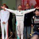 Full Monte: The shy and retiring Lewis Hamilton is king of Monte Carlo while Prince Albert of Monaco is not amused