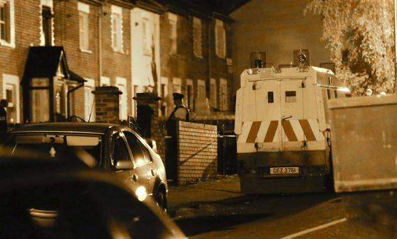 The scene of a shooting in the Cranbrook Gardens area of Ardoyne on June 01 2016 in Belfast , Northern Ireland ( Photo by Kevin Scott / Presseye)